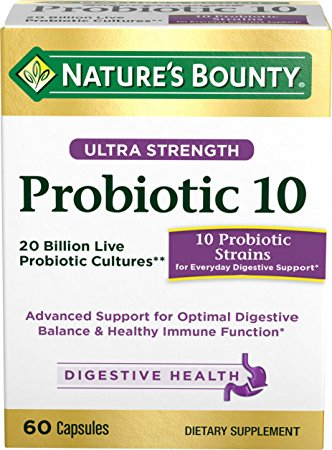 9. Nature's Bounty Ultra Probiotic 10, 60 Capsules