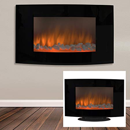 8. Best Choice Products Electric Wall Mount & Free Standing Fireplace Heater