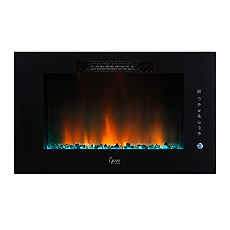 4. Caesar Luxury Linear Wall Mount Recess Freestanding Multicolor Flame Electric Fireplace