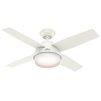 5. Hunter 59246 Contemporary Dempsey Fresh White Ceiling Fan