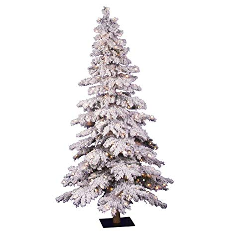 vickerman 6 flocked spruce artificial christmas tree